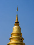 złoty pagodowy Thailand fotografia royalty free