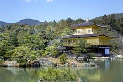 Złoty pawilon - Kinkaku-ji Obraz Stock