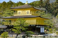 Złoty pawilon - Kinkaku-ji Obrazy Stock
