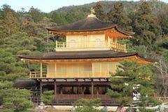 Złoty pawilon Kinkaku ji w Kyoto Zdjęcia Royalty Free
