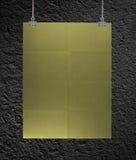 Złoty plakat na arkanie Zdjęcia Royalty Free