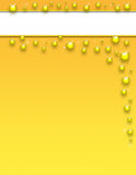 złoty plusk szablonu Obrazy Royalty Free