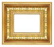złoty ramowy Fotografia Royalty Free