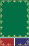 złoty ramowy baroku royalty ilustracja