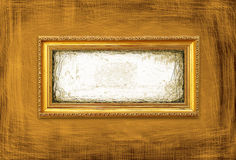 złoty ramowy grunge styl Zdjęcie Stock