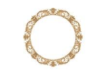 złoty ramowy ilustracyjny rocznik wektor Odizolowywa lustro Projekta retro element fizyczny realistyczny odbicie Obrazy Royalty Free