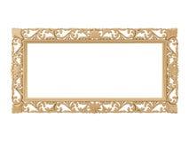 złoty ramowy ilustracyjny rocznik wektor Odizolowywa lustro Projekta retro element fizyczny realistyczny odbicie Zdjęcia Royalty Free