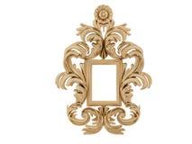 złoty ramowy ilustracyjny rocznik wektor Odizolowywa lustro Projekta retro element fizyczny realistyczny odbicie Zdjęcia Stock