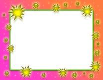 złoty ramowy plusk Fotografia Stock