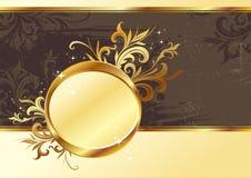 złoty ramowy rocznik royalty ilustracja