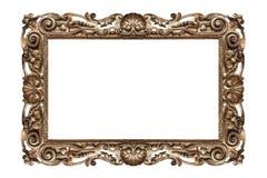 złoty ramowy stary Obrazy Royalty Free