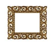 złoty ramowy stary Obrazy Stock