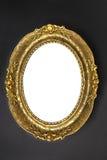 złoty ramowy stary owalne Zdjęcie Stock