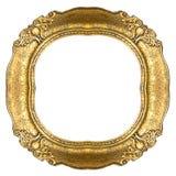 złoty ramowy stary owalne Zdjęcia Royalty Free
