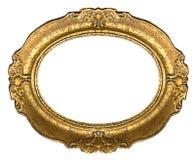 złoty ramowy stary owalne Obrazy Royalty Free