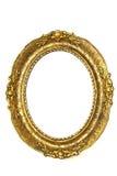 złoty ramowy stary owalne Zdjęcie Royalty Free