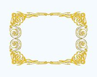 Złoty ramowy wektor Zdjęcie Stock