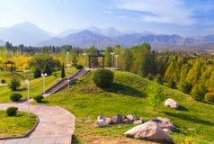 Złoty ranek w parku Zdjęcia Royalty Free