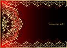 Złoty rocznika kartka z pozdrowieniami na czarnym tle Luksusowy ornamentu szablon Wielki dla zaproszenia, ulotka, menu, broszurka Obrazy Stock