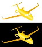 Złoty samolot Zdjęcia Royalty Free