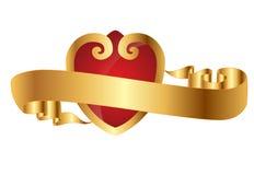 złoty serce Zdjęcia Royalty Free