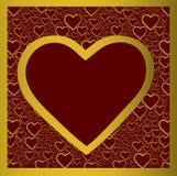 złoty serce Zdjęcie Royalty Free
