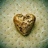 Złoty serce Obraz Royalty Free