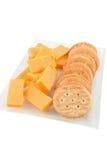 złoty serowy krakers Obrazy Royalty Free