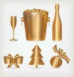 Złoty Set Obrazy Royalty Free