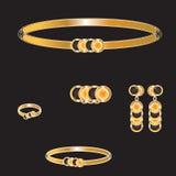 Złoty set Fotografia Royalty Free