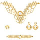 Złoty set royalty ilustracja