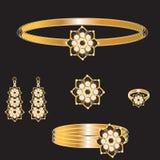 Złoty set Zdjęcia Royalty Free