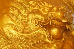 Złoty smok obraz stock