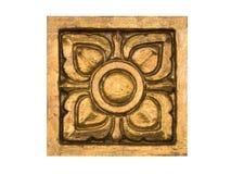 Złoty stiuk tajlandzki stylu wzór Zdjęcia Stock