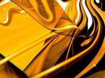 złoty streszczenie Fotografia Stock