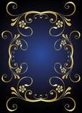 złoty stylowy rocznik Obrazy Royalty Free