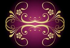 złoty stylowy rocznik Zdjęcia Stock