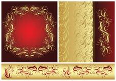 złoty stylowy rocznik Fotografia Royalty Free