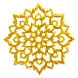 Złoty Tajlandzki tradycyjnej sztuki wzór Obraz Royalty Free