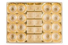 Złoty talerz Fotografia Royalty Free