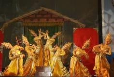Złoty tancerz Fotografia Royalty Free
