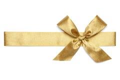 Złoty Tasiemkowy krawat Fotografia Royalty Free
