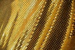 złoty tkanina luksus Zdjęcia Stock