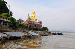 Złoty trójbok Buddha Tajlandia Obrazy Royalty Free