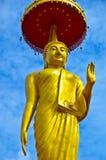 Złoty Trwanie Buddha Obrazy Stock