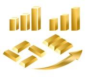 Złoty wykres Zdjęcie Royalty Free