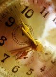 Złoty zegar Fotografia Royalty Free