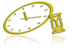 Złoty zegar royalty ilustracja