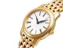złoty zegarek Zdjęcia Stock