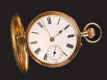 złoty zegarek kieszonkowy Obraz Stock
